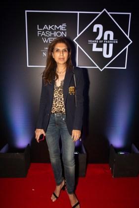 Pic 5- Designer Monisha Jaisingh at Lakmé Fashion Week 20 years' celebration
