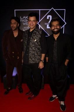 Pic 7- Designers Nikhil Thampi, Nachiket Barve and Ujjwal Dubey at Lakmé Fashion Week 20 years' celebration - Copy