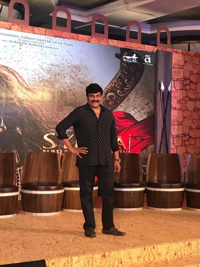 Megastar Chiranjeevi at the teaser launch