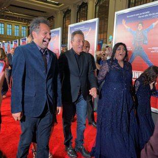 l-r Sarfraz Manzoor, Bruce Springsteen, Gurinder Chadha