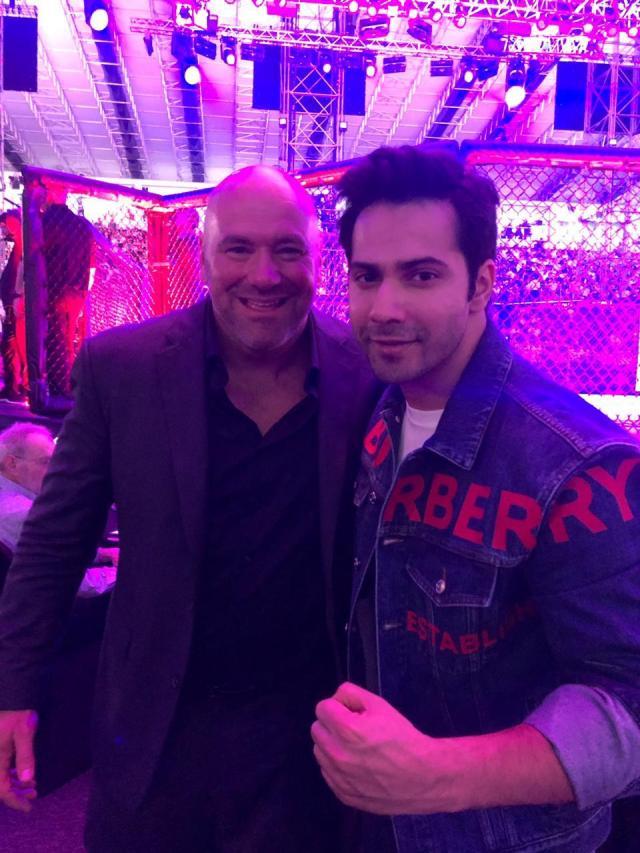 Varun Dhawan & Dana White at UFC MMA Championship