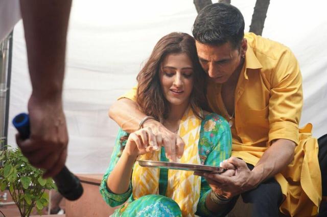 Nupur Sanon and Akshay Kumar