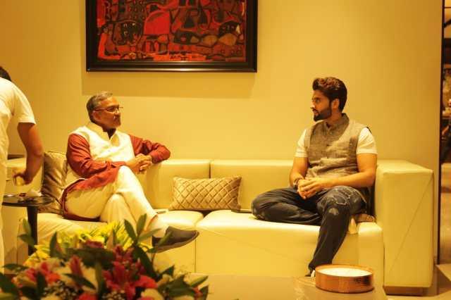 Jackky Bhagnani Hosts The Honourable CM Of Uttarakhand, Mr. Trivendra Singh Rawat At His Residence