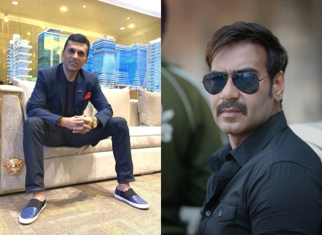 Anand Pandit and Ajay Devgn