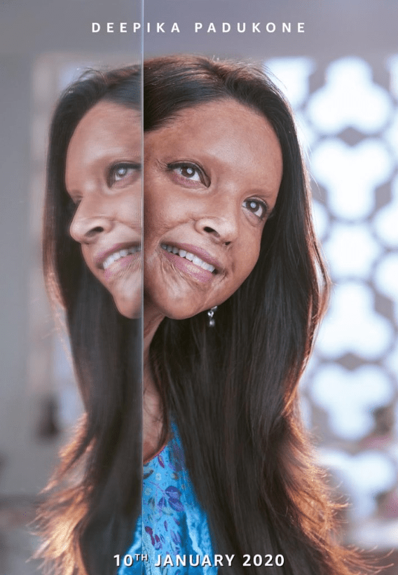 Deepika Padukone on the poster of Chhapaak