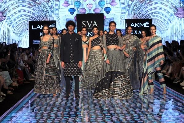 SVS featuring SONAM & PARAS MODI During the Lakme Fashion Week Summer Resort 2020 at Jio Gardens in Mumbai, India on February 15th, 2020. Photo : FS Images / Lakme Fashion Week / IMG Reliance