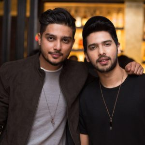 Armaan Malik and Rishab Joshi from Lost Stories pose for a picture.