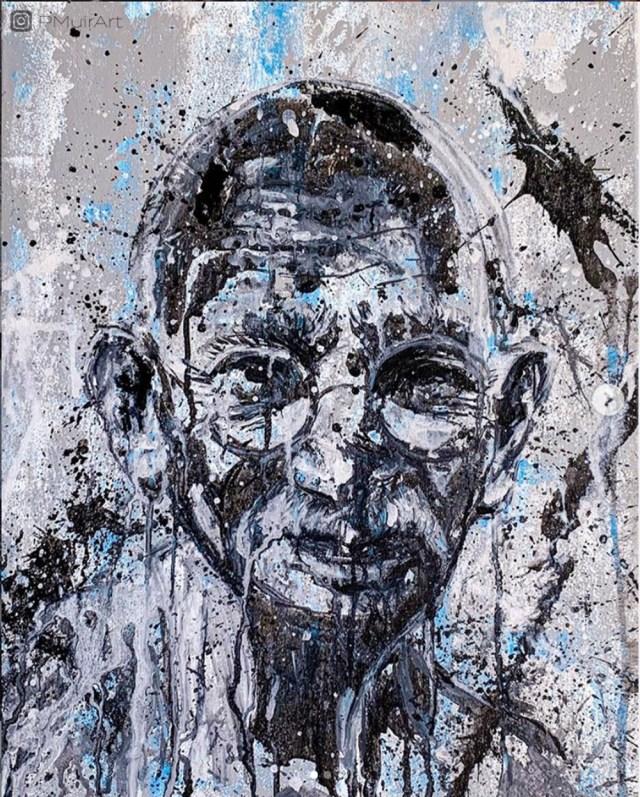 Pratiksha Muir's painting of Gandhi