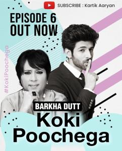 Kartik Aaryan and Barkha Dutt