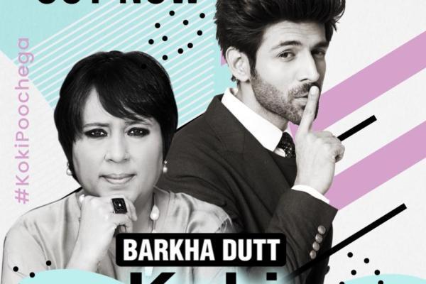Kartik Aaryan and Barkha Dutt