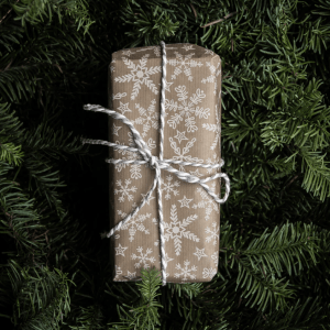 wrapped holiday gift