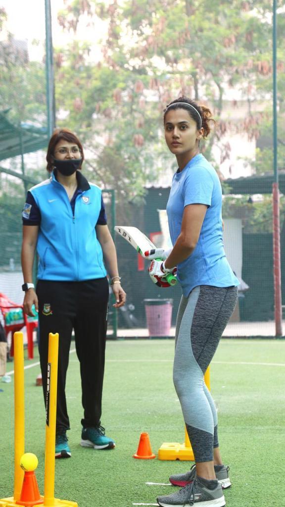 Taapsee Pannu starts training to lead Team 'Shabaash Mithu'