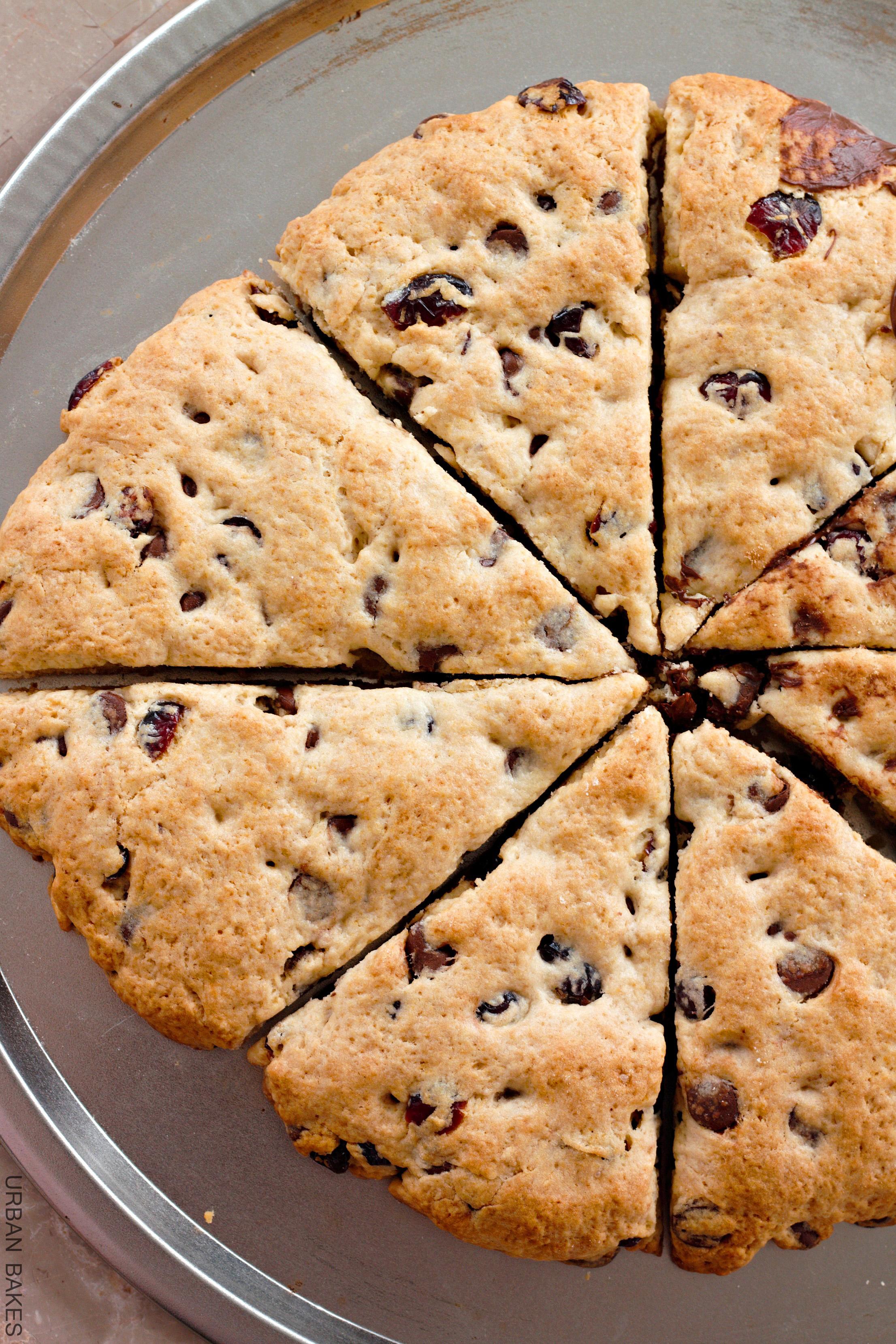 URBAN BAKES - Cherry-Chocolate Chip Scones - URBAN BAKES