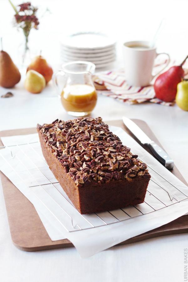 Praline Pear Bread | urbanbakes.com