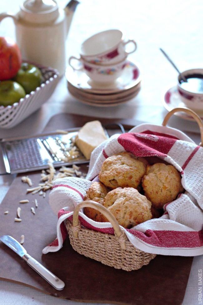 Apple and Gouda Drop Biscuits | urbanbakes.com