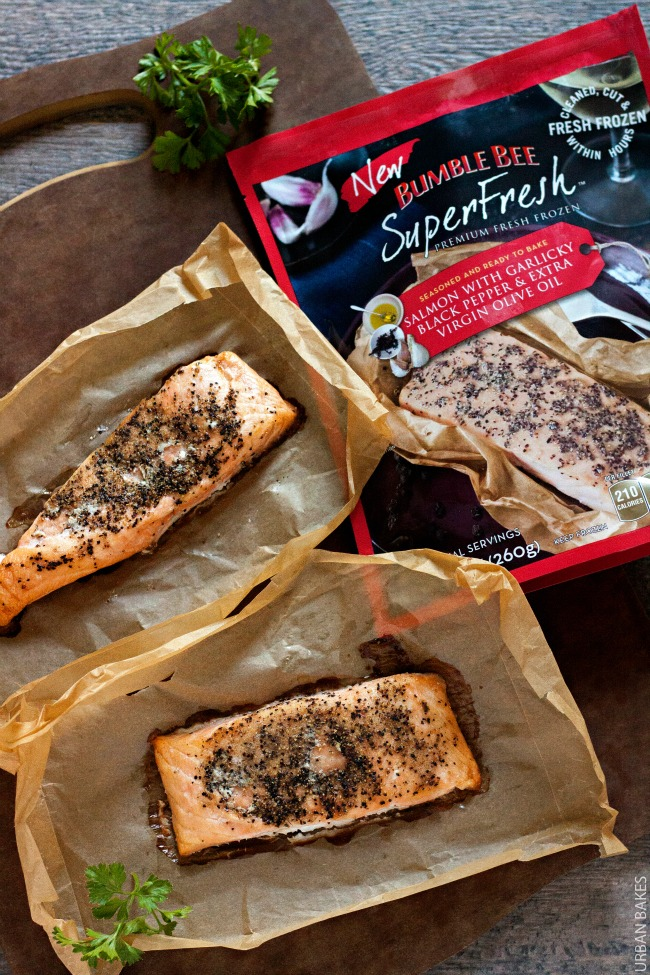 Bumble Bee SuperFresh Salmon with Garlicky Black Pepper and Oil | URBAN BAKES