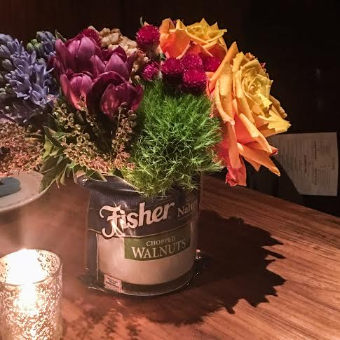 Flower Decor from Fisher's Nuts at Butter Restaurant in NY | URBAN BAKES