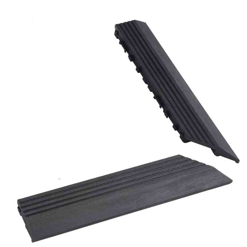 charcoal composite deck tile corner trim