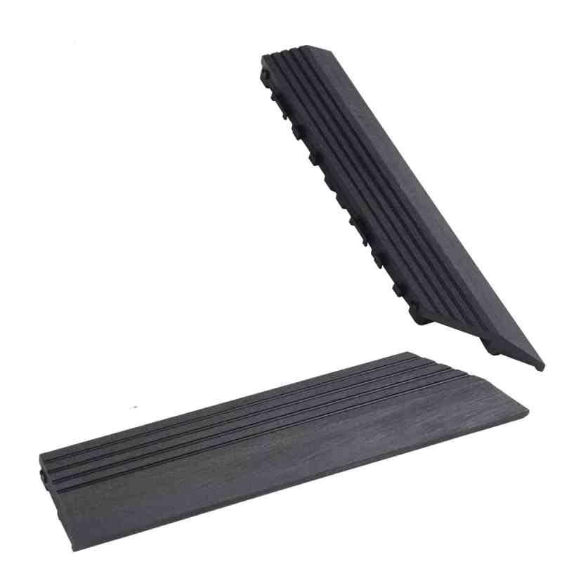 charcoal composite deck tile corner trim