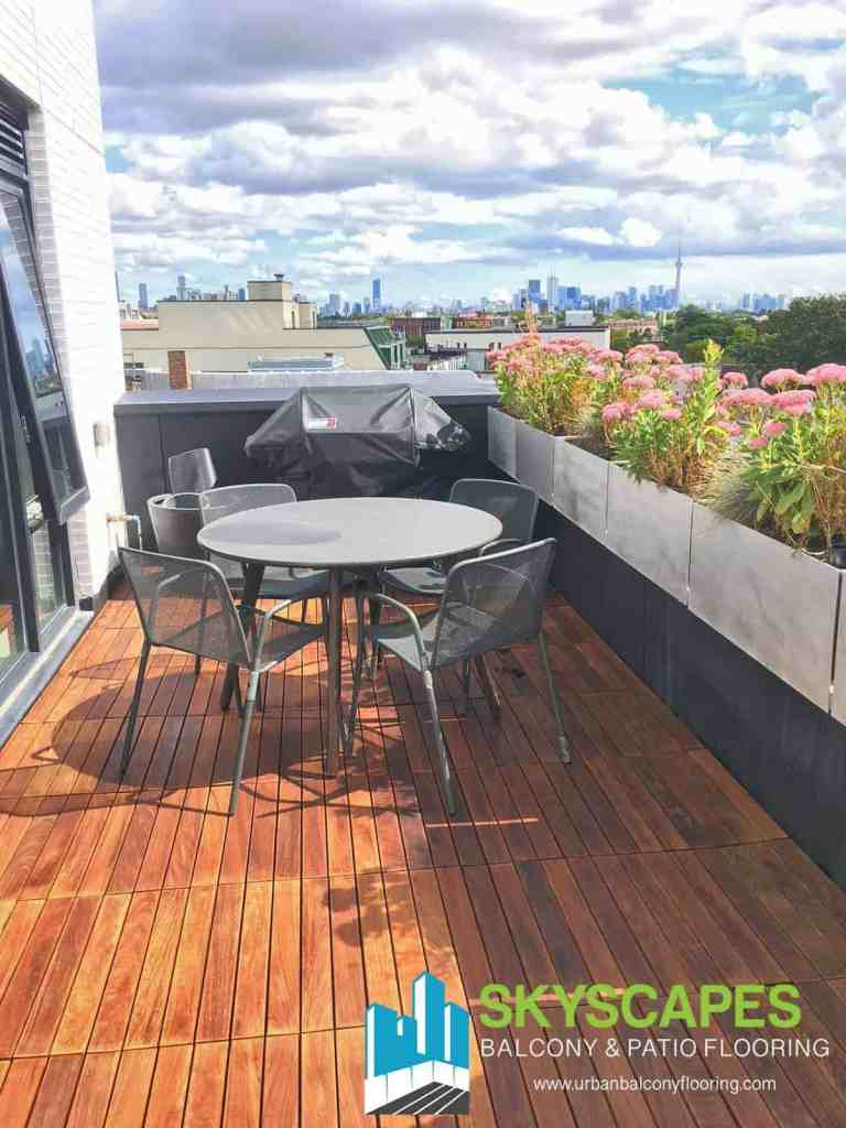 Ipe 2x1 Structural Terrace Tiles. Rich wood grain. Luxurious!