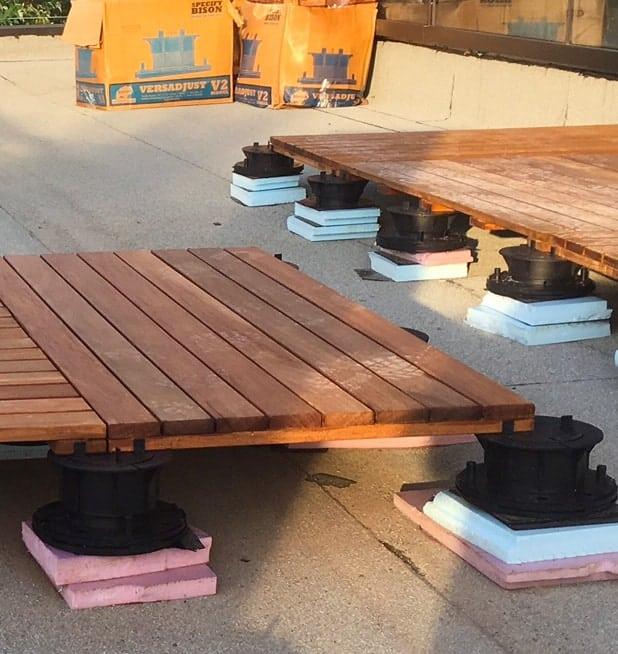 Height Pedestals for Rooftop Outdoor Flooring Installation