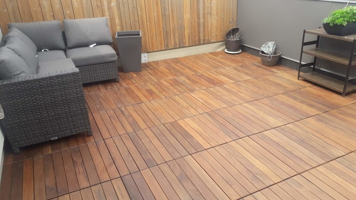 exotic hardwood deck tiles skyscapes