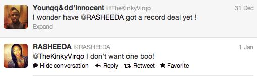rasheeda record deal