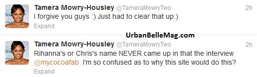 tamera mowry rihanna beef tamera denies rumor 2