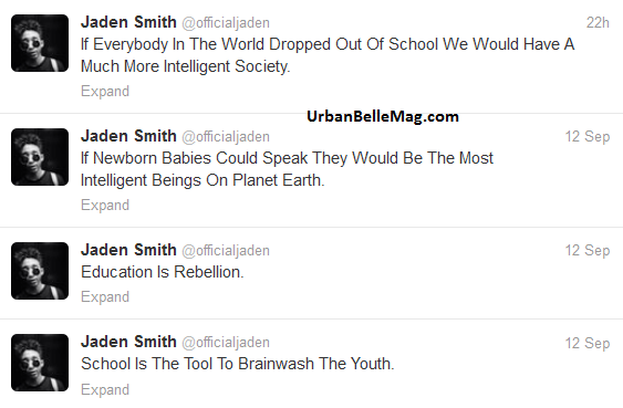 94a42ca8c97b9 jaden smith tweets about education encourages kids to drop out of school