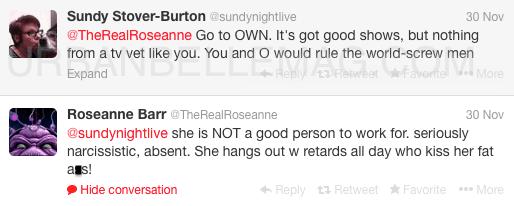 roseanne drags oprah