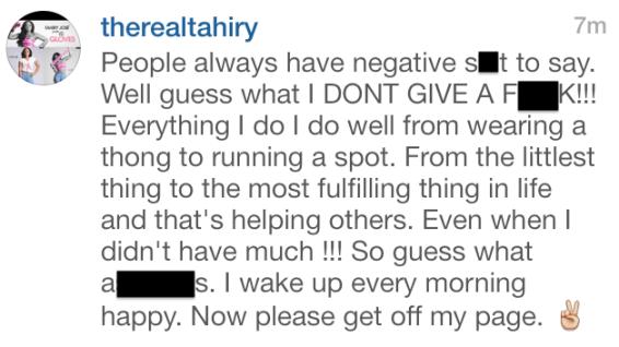 tahiry instagram beef 3