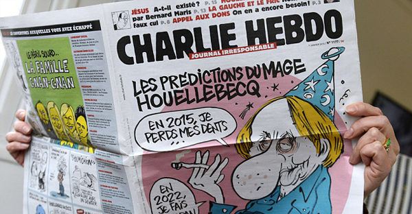 An issue of the French satirical newspaper Charlie Hebdo (Bertrand Guay/AFP/Getty Images)