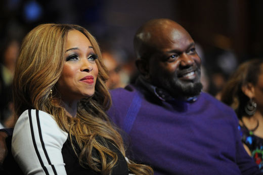 Former NFL player Emmitt Smith (R) and Patricia Smith attend the 16th Annual Super Bowl Gospel Celebration at ASU Gammage on January 30, 2015 in Tempe, Arizona. (Photo by Marcus Ingram/Getty Images for Super Bowl Gospel)