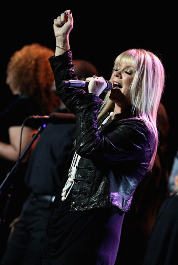 Singer Natalie Grant performs onstage during the 16th Annual Super Bowl Gospel Celebration at ASU Gammage on January 30, 2015 in Tempe, Arizona. (Photo by Imeh Akpanudosen/Getty Images for Super Bowl Gospel)