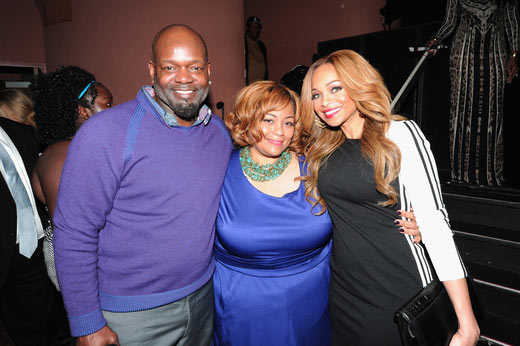 (L-R) Former NFL player Emmitt Smith, Super Bowl Gospel Celebration Founder/Executive Producer Melanie Few-Harrison, and Patricia Smith attend the 16th Annual Super Bowl Gospel Celebration at ASU Gammage on January 30, 2015 in Tempe, Arizona. (Photo by Marcus Ingram/Getty Images for Super Bowl Gospel)