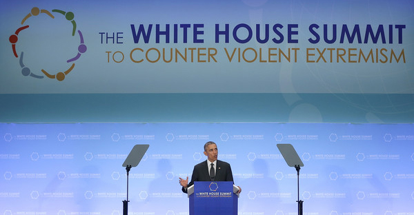 U.S. President Barack Obama addresses the White House Summit on Countering Violent Extremism February 19, 2015 in Washington, DC. (Win McNamee/Getty Images North America)
