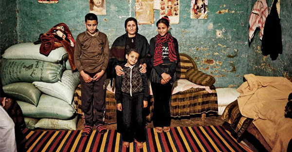 Wife, daughter and sons of 42-year-old slain laborer Tawadros Youssef, who was one of the Egyptian Coptics killed by ISIS. (PHOTO CREDIT: Jonathan Rashad)