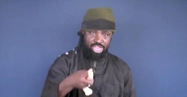 This screen grab image taken on February 18, 2015 from a video made available by Islamist group Boko Haram shows their leader Abubakar Shekau making a statement at an undisclosed location (AFP Photo/)