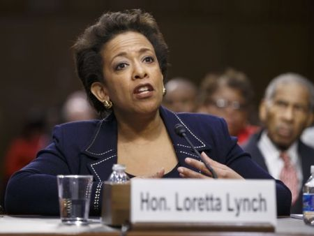 Attorney general nominee Loretta Lynch's confirmation vote is being held up in the Senate because of a partisan battle over abortion. (Photo: J. Scott Applewhite, AP)