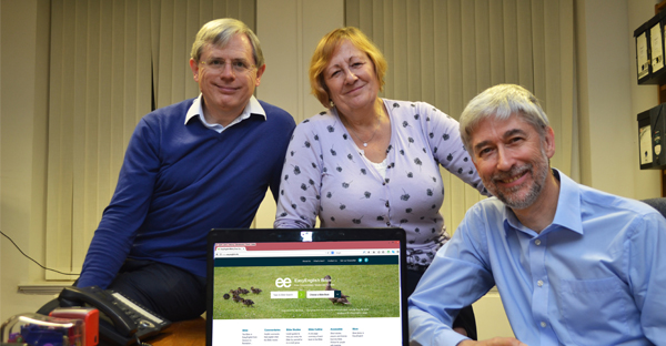 """""""Modern, simple English"""": John Williams (right) with the Bible co-ordinators, Chris and Lynn Holt (MISSION ASSIST)"""