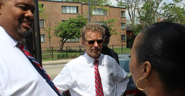 U.S. Sen. Rand Paul (R-Ky.) visited Woodlawn on Wednesday in his bid to become the Republican candidate for president in 2016. (DNAinfo/Sam Cholke)