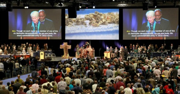 Delegates and visitors gather at the 2012 United Methodist General Conference in Tampa, Florida. (UMNS/Kathleen Barry)