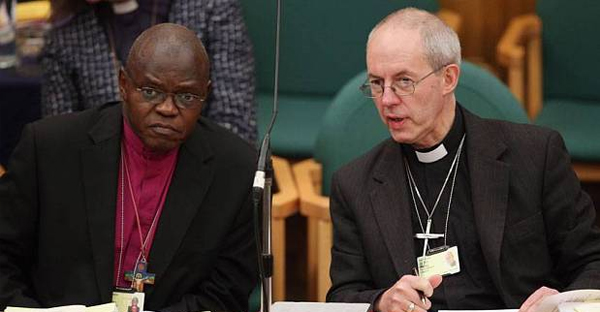 Dr. John Sentamu, one of the Church's highest profile non-white members, and Most Rev Justin Welby (Getty)