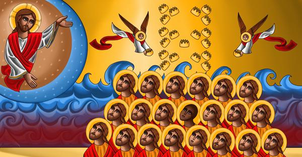 Icon of the 21 martyrs of Libya (by Tony Rezk)