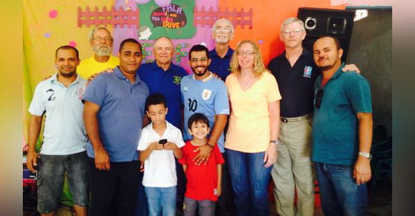 Bob Woody (second back from left) of rural Crawfordsville has helped build churches in Brazil as part of a Methodist mission trip six times since 1993. But this summer, the Zika virus has altered his plans. (Photo provided)