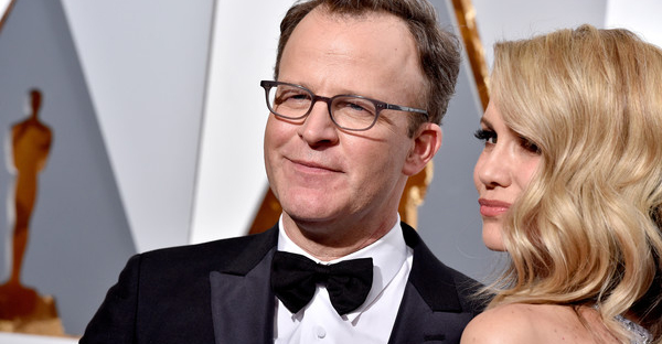 Director Tom McCarthy (L) and Wendy Merry McCarthy attend the 88th Annual Academy Awards at Hollywood & Highland Center on February 28, 2016 in Hollywood, California. (Kevork Djansezian/Getty Images North America)
