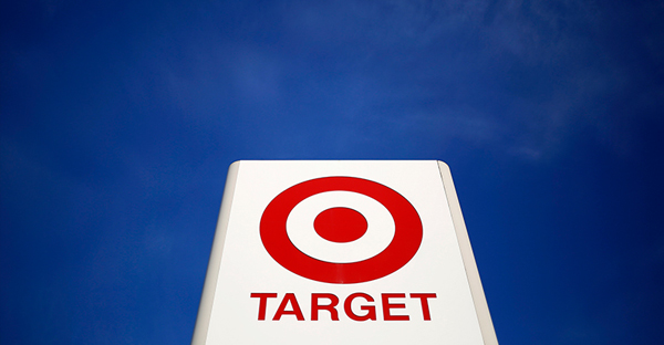 A sign for a Target store is seen in the Chicago suburb of Evanston, Illinois, on February 10, 2015. (Photo courtesy of REUTERS/Jim Young)