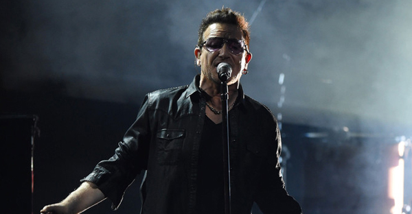 Bono of the band U2 performs live on stage during the Bambi Awards 2014 show on November 13, 2014 in Berlin, Germany. (Matthias Nareyek/Getty Images Europe)