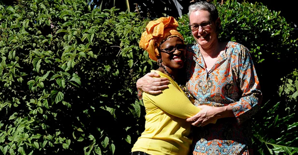 Mpho Tutu and her wife, Prof Marceline van Furth, at their home in Cape Town, South Africa. (Photograph: Foto24/Getty Images)