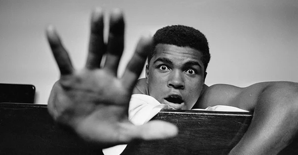 Cassius Clay (later Muhammad Ali) in London in May 1963. 'If Ali was conspicuously brave in the ring, this was transcended by the political bravery which made millions the world over, black people above all, see him as a unique hero.' (Photograph: Len Trievnor/Getty)